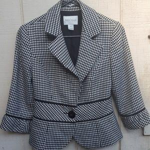 WHBM Houndstooth 3/4 Sleeve Blazer Size 4